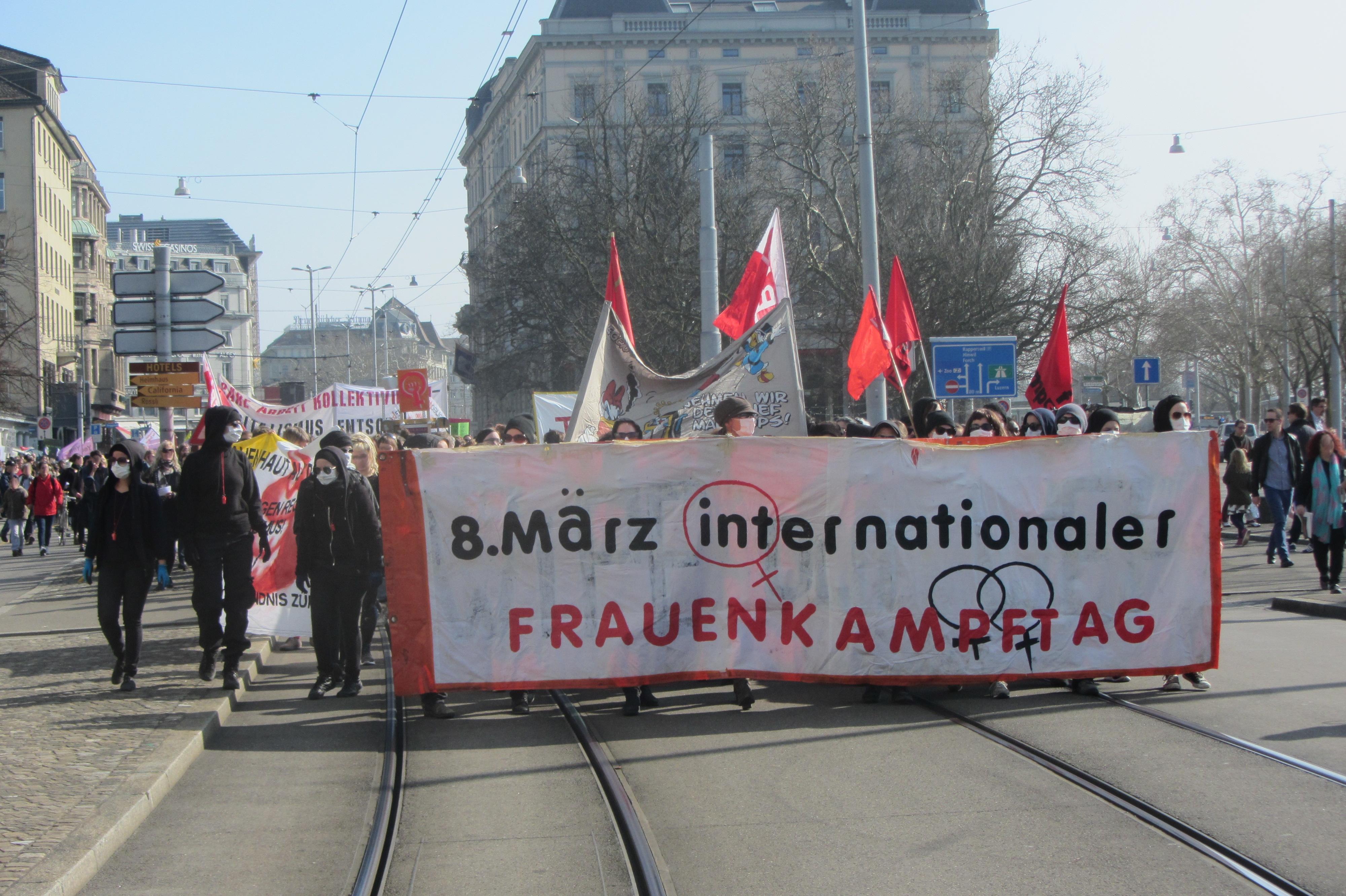 8. März Frauendemo 2014